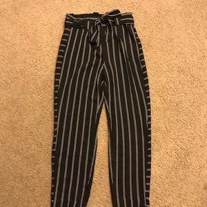 Express ankle high rise stripped flowy pants